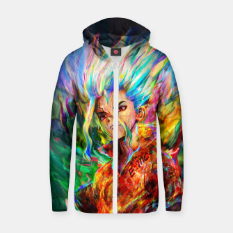 Thumbnail image of dr. stone Zip up hoodie, Live Heroes