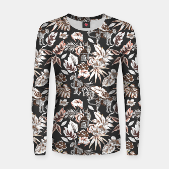 Thumbnail image of Leopards in the wild flora 41 Sudadera para mujeres, Live Heroes