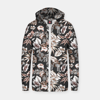 Thumbnail image of Leopards in the wild flora 41 Sudadera con capucha y cremallera , Live Heroes