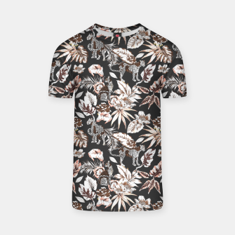 Thumbnail image of Leopards in the wild flora 41 Camiseta, Live Heroes
