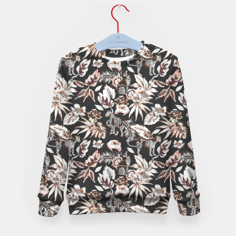 Thumbnail image of Leopards in the wild flora 41 Sudadera para niños, Live Heroes