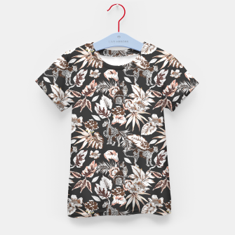 Thumbnail image of Leopards in the wild flora 41 Camiseta para niños, Live Heroes