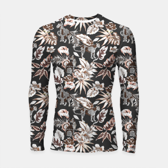 Thumbnail image of Leopards in the wild flora 41 Longsleeve rashguard, Live Heroes