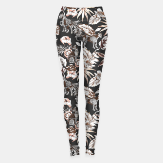 Thumbnail image of Leopards in the wild flora 41 Leggings, Live Heroes