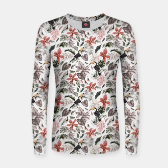 Thumbnail image of Toucans in the flowered jungle 6 Sudadera para mujeres, Live Heroes