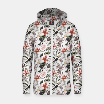 Thumbnail image of Toucans in the flowered jungle 6 Sudadera con capucha y cremallera , Live Heroes