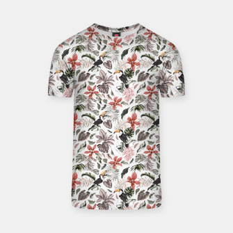 Thumbnail image of Toucans in the flowered jungle 6 Camiseta, Live Heroes