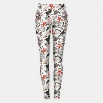 Imagen en miniatura de Toucans in the flowered jungle 6 Leggings, Live Heroes