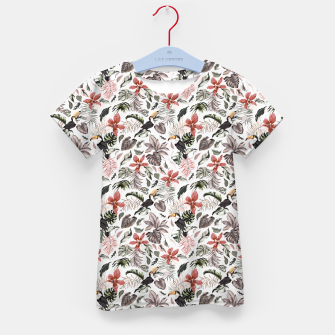 Thumbnail image of Toucans in the flowered jungle 6 Camiseta para niños, Live Heroes