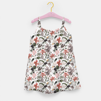 Thumbnail image of Toucans in the flowered jungle 6 Vestido para niñas, Live Heroes