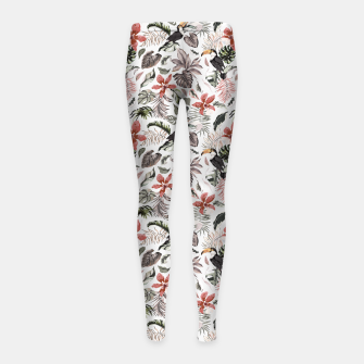 Miniatur Toucans in the flowered jungle 6 Leggings para niña, Live Heroes