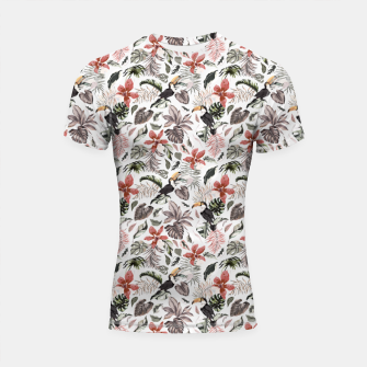 Thumbnail image of Toucans in the flowered jungle 6 Shortsleeve rashguard, Live Heroes