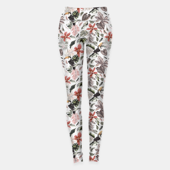 Thumbnail image of Toucans in the flowered jungle 6 Leggings, Live Heroes