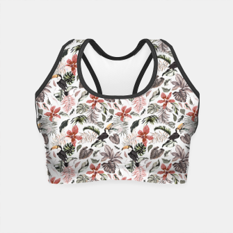 Thumbnail image of Toucans in the flowered jungle 6 Crop Top, Live Heroes