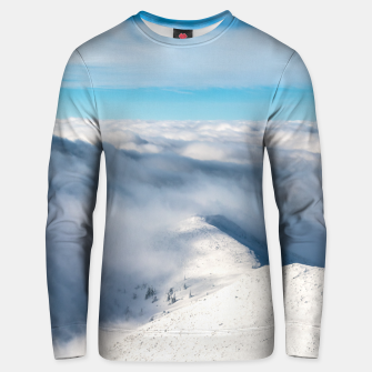 Miniaturka Mountains emerging from clouds Unisex sweater, Live Heroes