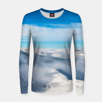 Miniature de image de Mountains emerging from clouds Women sweater, Live Heroes