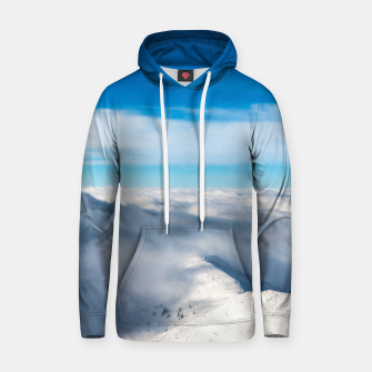 Miniature de image de Mountains emerging from clouds Hoodie, Live Heroes