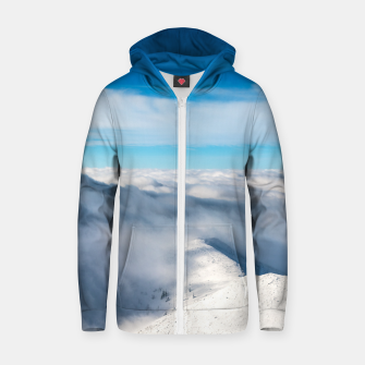 Miniature de image de Mountains emerging from clouds Zip up hoodie, Live Heroes