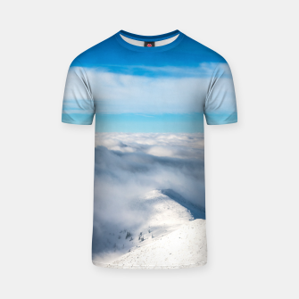 Miniature de image de Mountains emerging from clouds T-shirt, Live Heroes