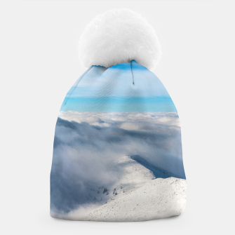 Miniature de image de Mountains emerging from clouds Beanie, Live Heroes