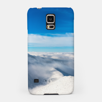 Miniature de image de Mountains emerging from clouds Samsung Case, Live Heroes