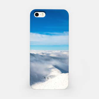 Miniature de image de Mountains emerging from clouds iPhone Case, Live Heroes