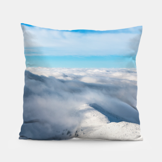 Miniature de image de Mountains emerging from clouds Pillow, Live Heroes