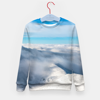Miniature de image de Mountains emerging from clouds Kid's sweater, Live Heroes