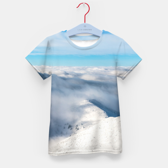 Miniature de image de Mountains emerging from clouds Kid's t-shirt, Live Heroes