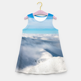 Miniature de image de Mountains emerging from clouds Girl's summer dress, Live Heroes