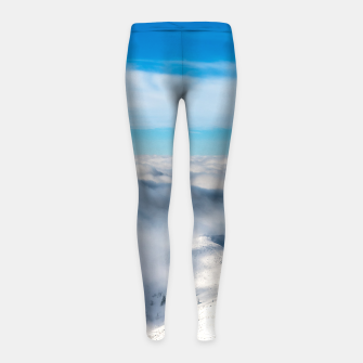 Miniature de image de Mountains emerging from clouds Girl's leggings, Live Heroes