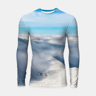 Miniature de image de Mountains emerging from clouds Longsleeve rashguard , Live Heroes