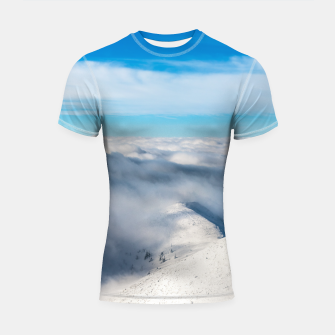 Miniature de image de Mountains emerging from clouds Shortsleeve rashguard, Live Heroes