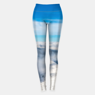 Miniature de image de Mountains emerging from clouds Leggings, Live Heroes