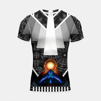 Thumbnail image of Wings Of Lightning Deco Mech Flare FL180 Shortsleeve rashguard, Live Heroes