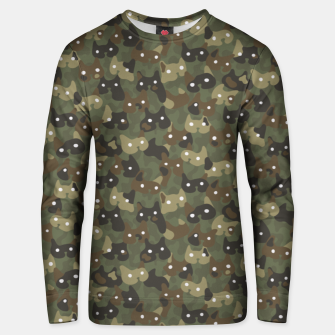 Miniature de image de Ghostly camouflaging cats are watching you in khaki Unisex sweater, Live Heroes