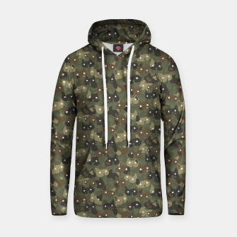 Miniature de image de Ghostly camouflaging cats are watching you in khaki Hoodie, Live Heroes