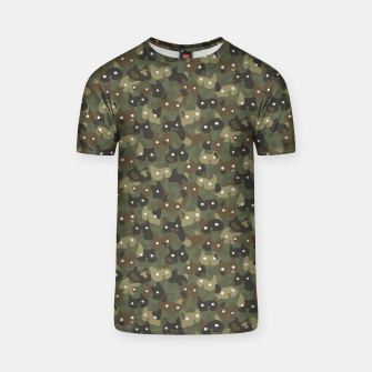 Miniature de image de Ghostly camouflaging cats are watching you in khaki T-shirt, Live Heroes