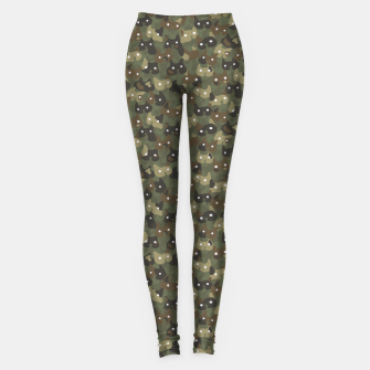 Miniature de image de Ghostly camouflaging cats are watching you in khaki Leggings, Live Heroes
