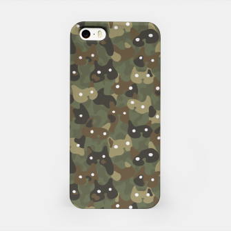 Miniature de image de Ghostly camouflaging cats are watching you in khaki iPhone Case, Live Heroes