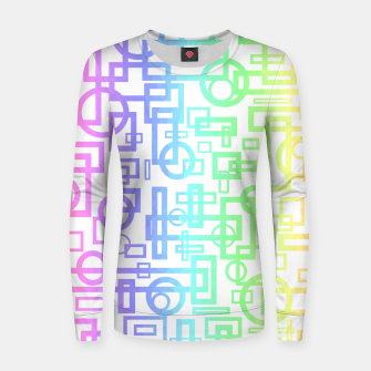 Miniatur Abstract Layers Women sweater, Live Heroes