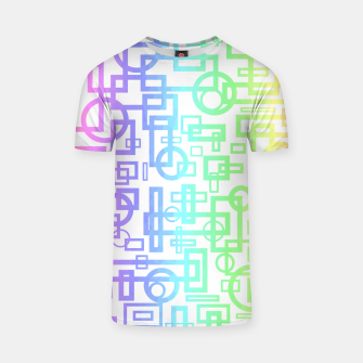Miniatur Abstract Layers T-shirt, Live Heroes