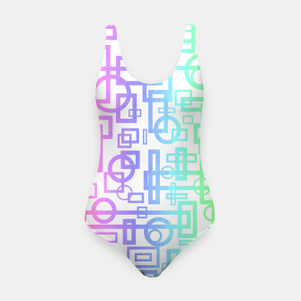 Miniatur Abstract Layers Swimsuit, Live Heroes