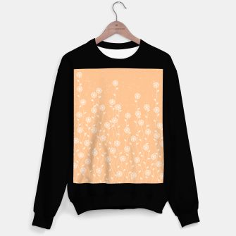Miniature de image de Minimal flowers, coral background, nature print, floral print, climbing spring plants Sweater regular, Live Heroes