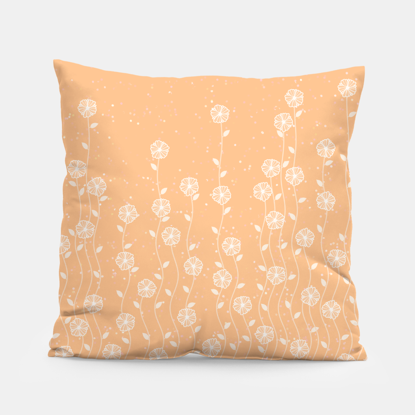Image de Minimal flowers, coral background, nature print, floral print, climbing spring plants Pillow - Live Heroes