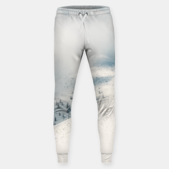 Miniature de image de Clouds clearing above spruce forest and snowy mountains Sweatpants, Live Heroes