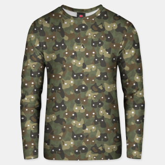 Miniaturka Ghostly camouflaging cats are watching you in khaki Unisex sweater, Live Heroes