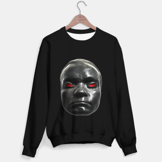 Miniature de image de Creepy Black Man Mask Print Sweater regular, Live Heroes