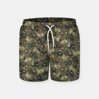 Miniature de image de Ghostly camouflaging cats are watching you in khaki Swim Shorts, Live Heroes
