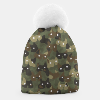 Miniature de image de Ghostly camouflaging cats are watching you in khaki Beanie, Live Heroes